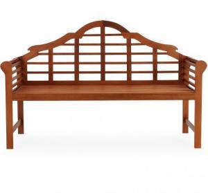 Záhradná lavica eukalyptové drevo II