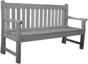 Záhradná lavica LONDON sivá - 150 cm