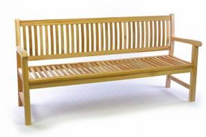 Záhradná lavica masív DIVERO 3-miestna 180 cm