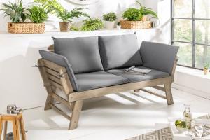 Záhradná lavica Mutual 152 cm sivá akácia
