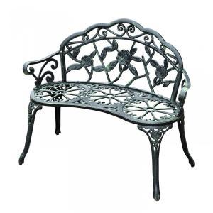 Záhradná lavička - antik zelená