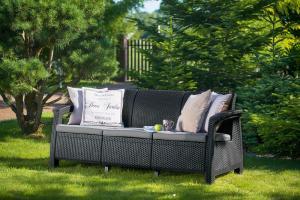 Záhradná lavička OXFORD 3 - antracit