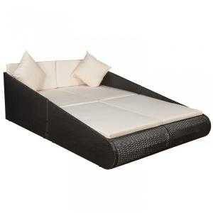 Záhradná posteľ pre 2 osoby - čierne