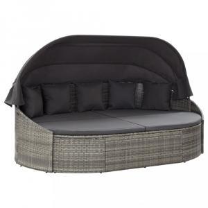 Záhradná posteľ sivá / antracit Dekorhome