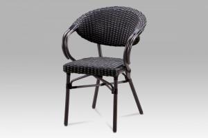Záhradná stolička AZC-130 BK hnedá / čierna Autronic