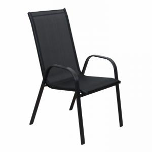 Záhradná stolička Morel (čierna)
