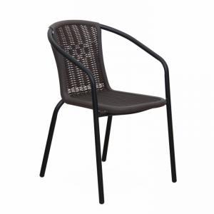 Záhradná stolička Vernell (čierna)