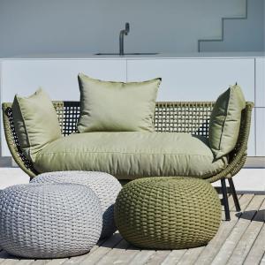 Záhradná taburetka MOON | 60 cm | natural