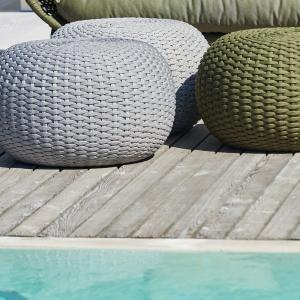 Záhradná taburetka MOON | 60 cm | sivá