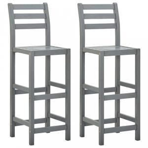 Záhradné barové stoličky 2 ks sivá Dekorhome