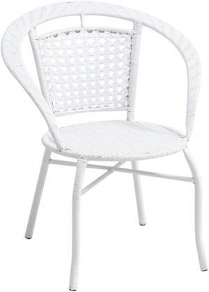 Záhradné kreslo, biela, JENAR