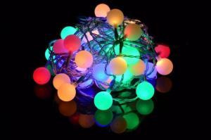 Záhradné párty osvetlenie - vonkajšie 50 LED pastelové farby