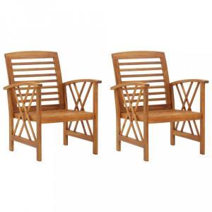 Záhradné stoličky 2 ks hnedá Dekorhome