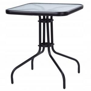 Zahradní stolek 60 cm Square černý