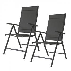Zahradní židle Bory černá - 2 kusy
