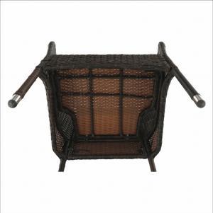 Záhradný 9-dielny ratanový set, hnedá/béžová, MENIBOR