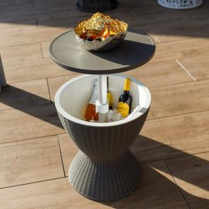 Záhradný chladiaci stolík, sivá, FABIR