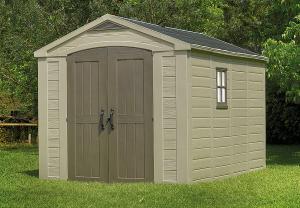 Záhradný domček plocha 257 x 332 cm (béžovo-šedohnedá)