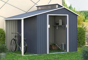 Záhradný domček plocha 292 x 129 cm (šedá)
