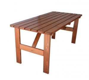 Záhradný drevený stôl Viking - 150 cm, lakovaný