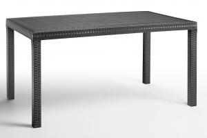 Záhradný jedálenský stôl ARLON Farba: tmavosivá