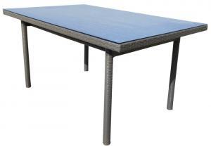Záhradný jedálenský stôl Java 160x100 cm, šedo-hnědý
