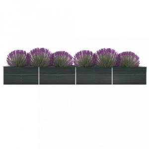 Záhradný kvetináč pozinkovaná oceľ 600x80x77 cm Dekorhome Antracit