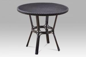 Záhradný stôl AZT-131 BK hnedá / čierna Autronic