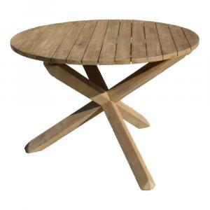 Záhradný stôl z agátového dreva ADDU Melfort, ⌀ 110 cm
