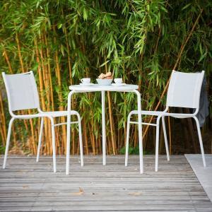 Záhradný stolík EASY | biela