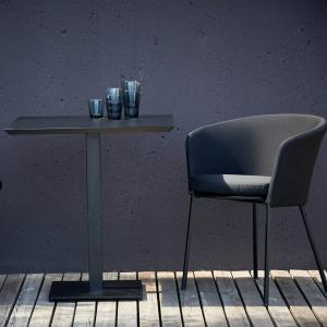 Záhradný stolík FLIX | čierna