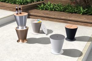 Záhradný stolík HIGOLD - ICOO Anodized