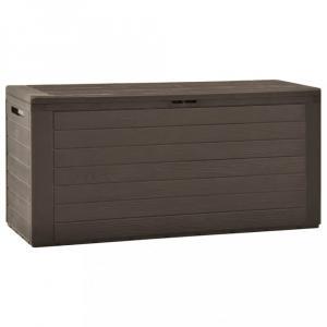 Záhradný úložný box 290l Dekorhome Hnedá