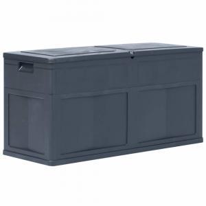 Záhradný úložný box 320 l Dekorhome Čierna