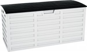 Záhradný úložný box, biela/čierna, PADMO