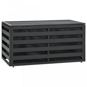 Záhradný úložný box hliník 100x50x50 cm antracit Dekorhome