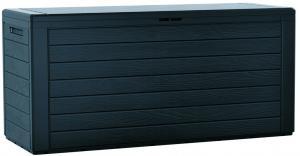 Záhradný úložný box Woodebox antracit, 190 l, 78 cm