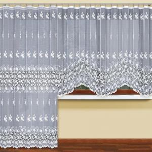 Žakarová záclona 304040 biela/160. Tovar na mieru