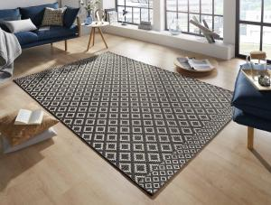 Zala Living - Hanse Home koberce Kusový koberec Harmony Black Wool 103316 - 155x230 cm