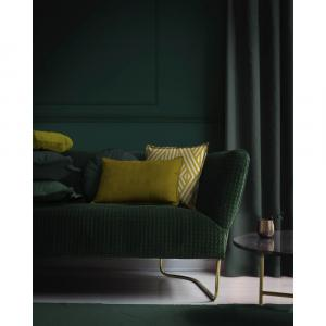 Zamatový vankúš v zlatej farbe Velvet Atelier Golden, 50 x 35 cm