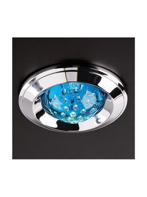 Zápustné - podhľadové svietidlo REDO ELC 287 CHROME BLUE 70026