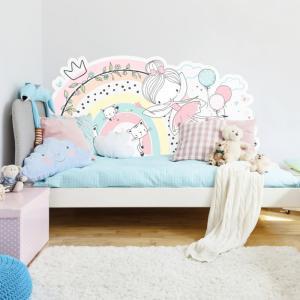 Zástena víla s dúhou k detskej posteli