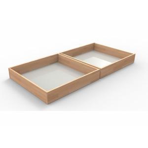 Zásuvky pod posteľ 1/2 Veľkosť: 200 x 90 cm, Materiál: BUK morenie orech
