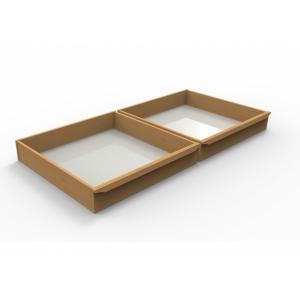 Zásuvky pod posteľ  Petra 1/2 Veľkosť: 200 x 80 cm, Materiál: BUK morenie tabak