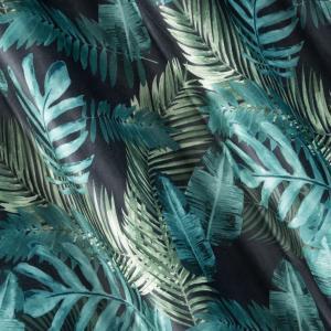 Záves VELVET s potlačou tropických rastlín