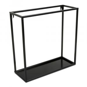 Závěsná police KVADRO 40 cm černá