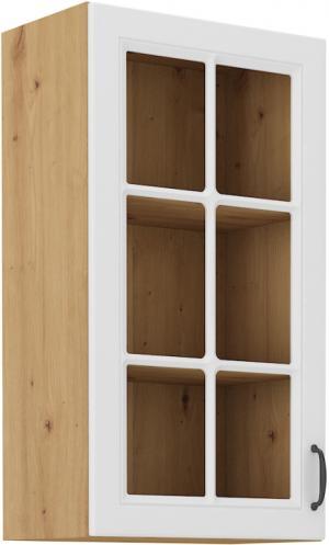 Závesná skrinka do kuchyne presklená 40 x 90 cm
