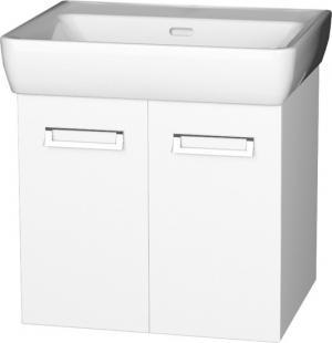 Závesná skrinka PRO 65-05, dvierková, s keramickým umývadlom - A