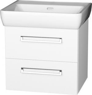 Závesná skrinka PRO 65-07, s dvoma zásuvkami, s keramickým umývadlom - B
