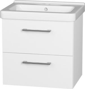 Závesná skrinka s keramickým umývadlom  CUBITO 65 , so zásuvkami - B